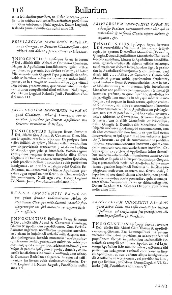 Bullarium Cluniacense p. 118   ⇒ Index privilegiorum