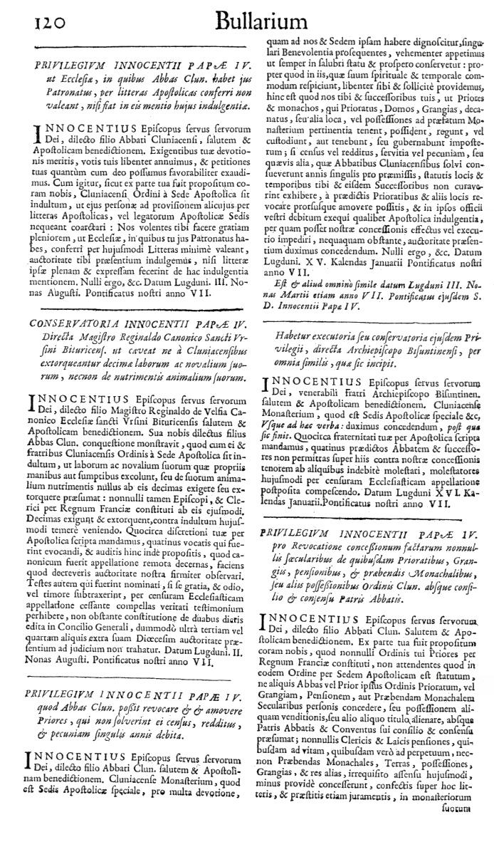 Bullarium Cluniacense p. 120   ⇒ Index privilegiorum