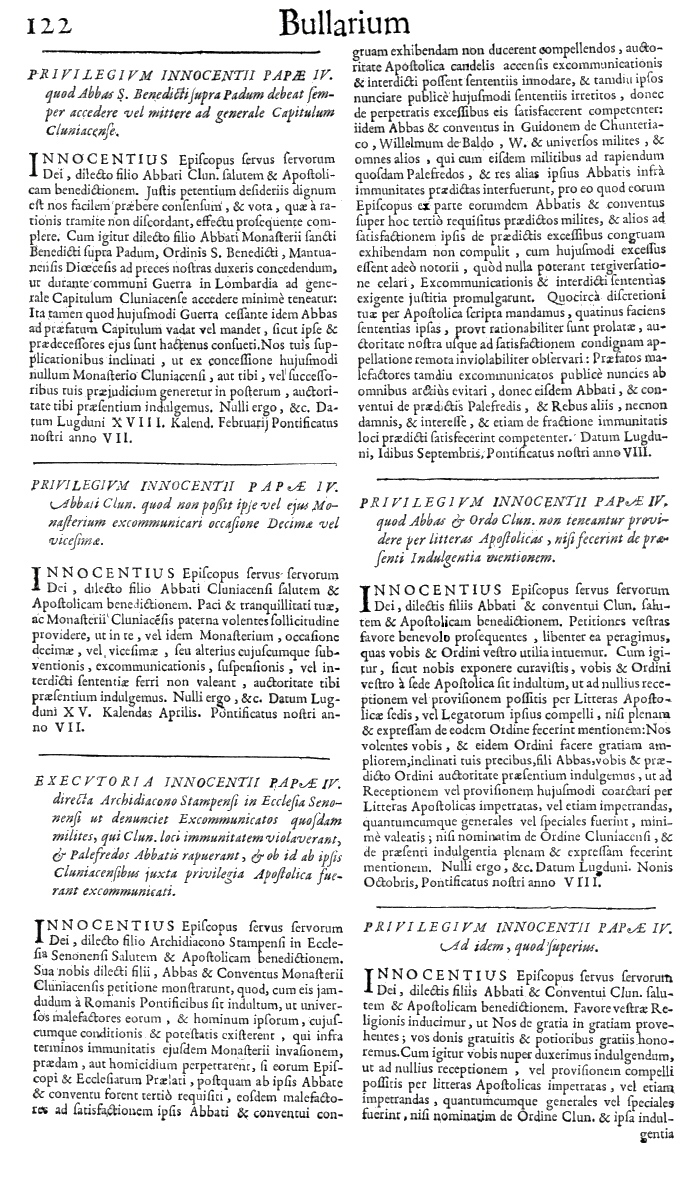 Bullarium Cluniacense p. 122     ⇒ Index privilegiorum