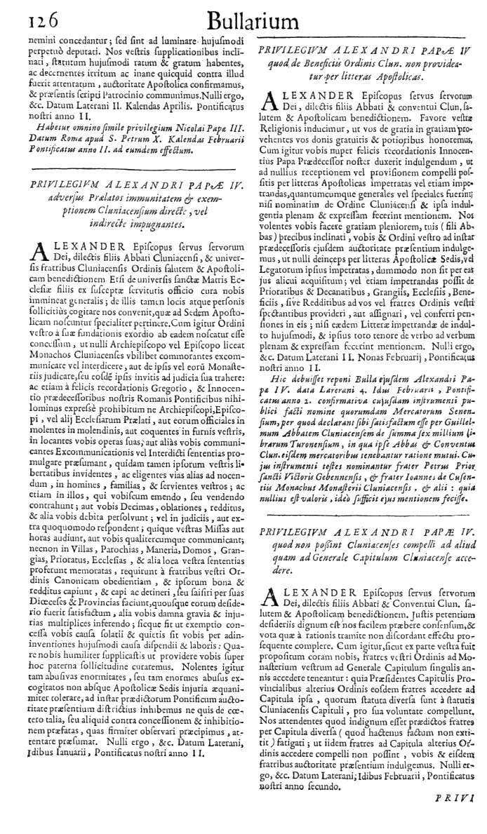 Bullarium Cluniacense p. 126   ⇒ Index privilegiorum