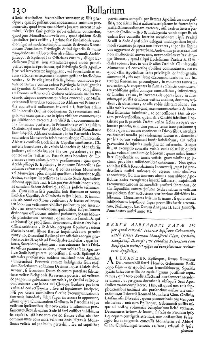Bullarium Cluniacense p. 130   ⇒ Index privilegiorum