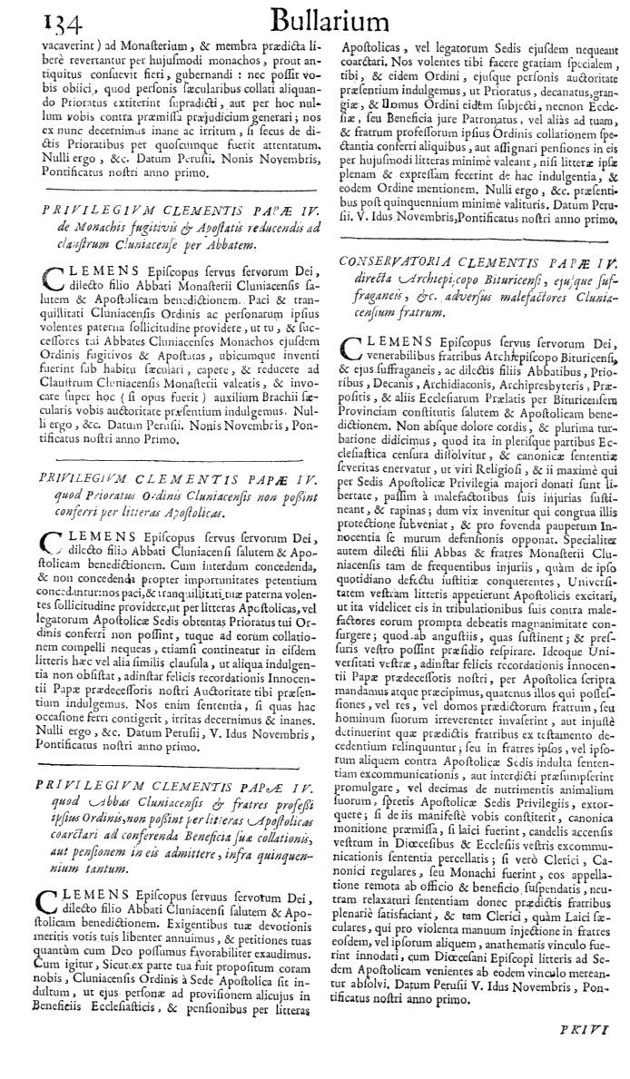 Bullarium Cluniacense p. 134   ⇒ Index privilegiorum