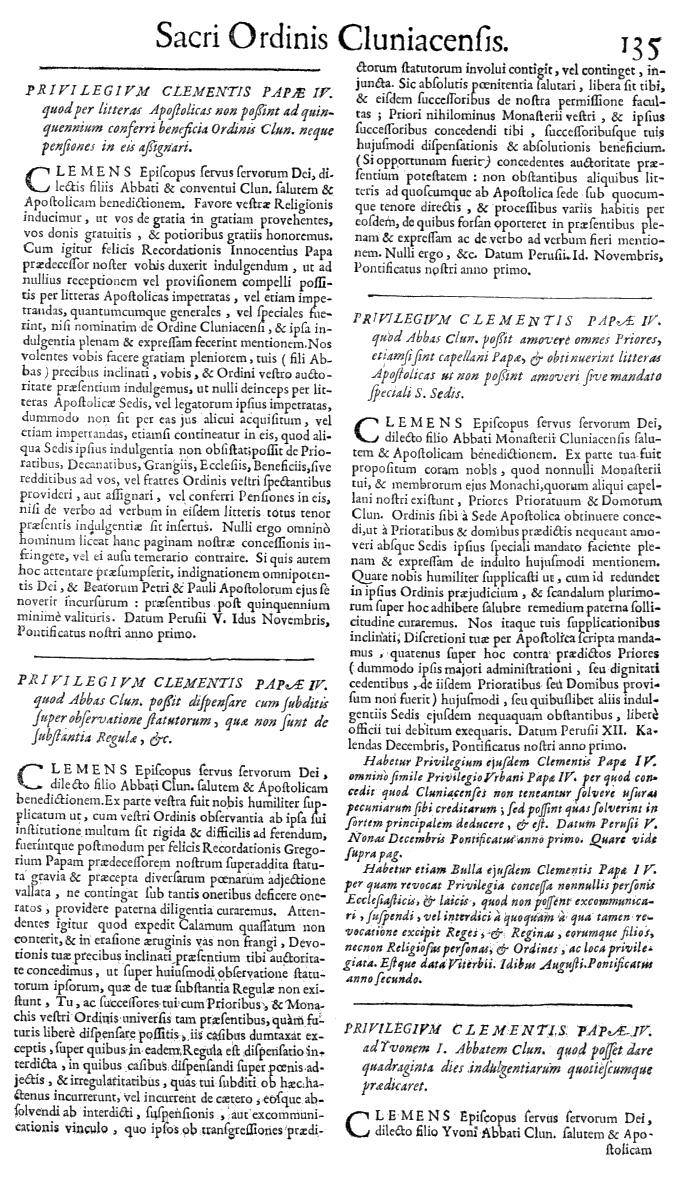 Bullarium Cluniacense p. 135   ⇒ Index privilegiorum