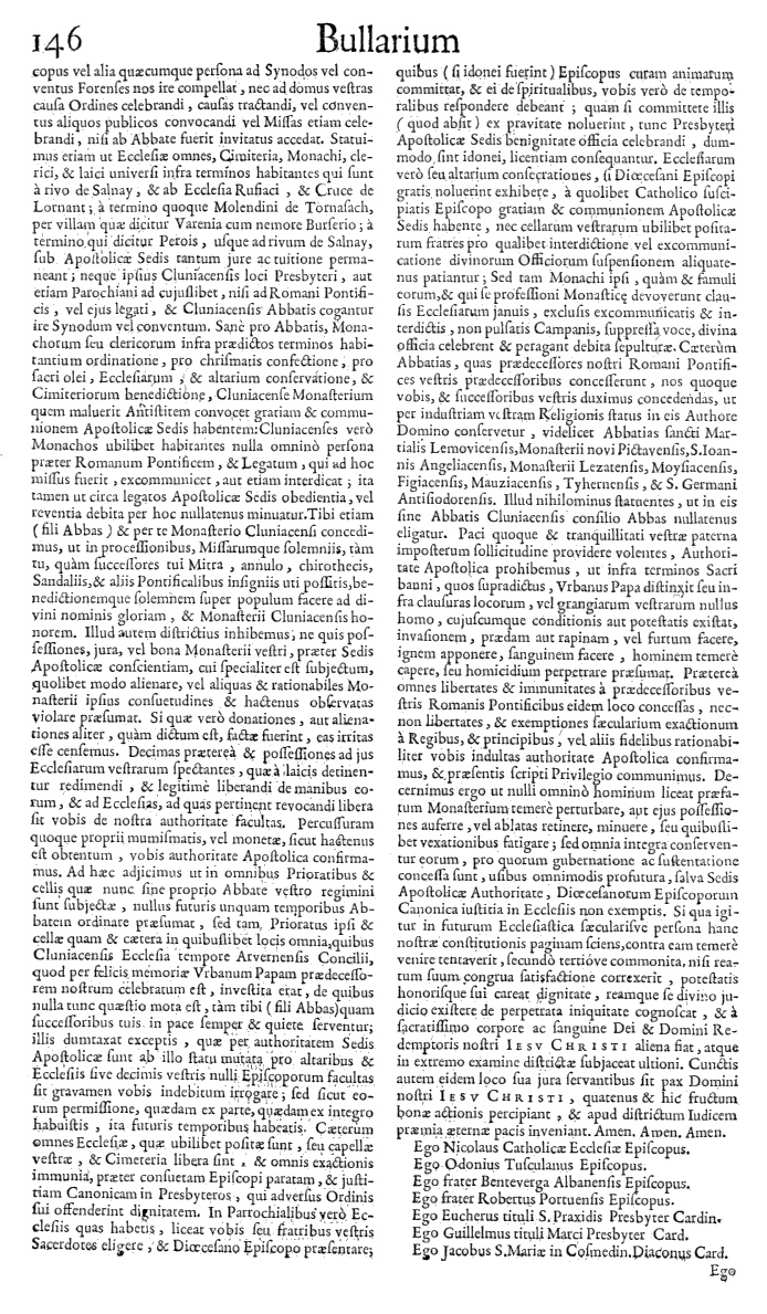 Bullarium Cluniacense p. 146     ⇒ Index privilegiorum