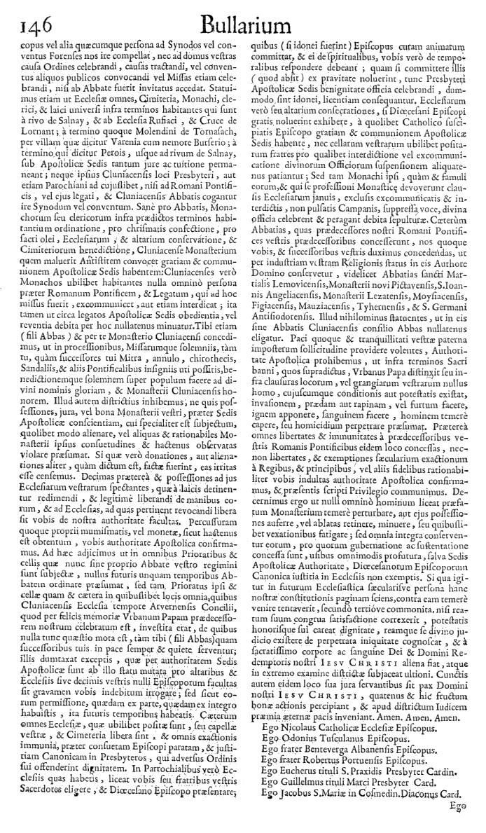 Bullarium Cluniacense p. 146   ⇒ Index privilegiorum