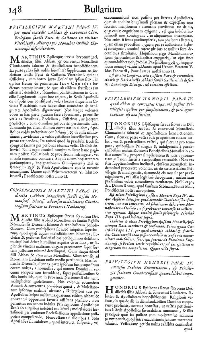 Bullarium Cluniacense p. 148   ⇒ Index privilegiorum
