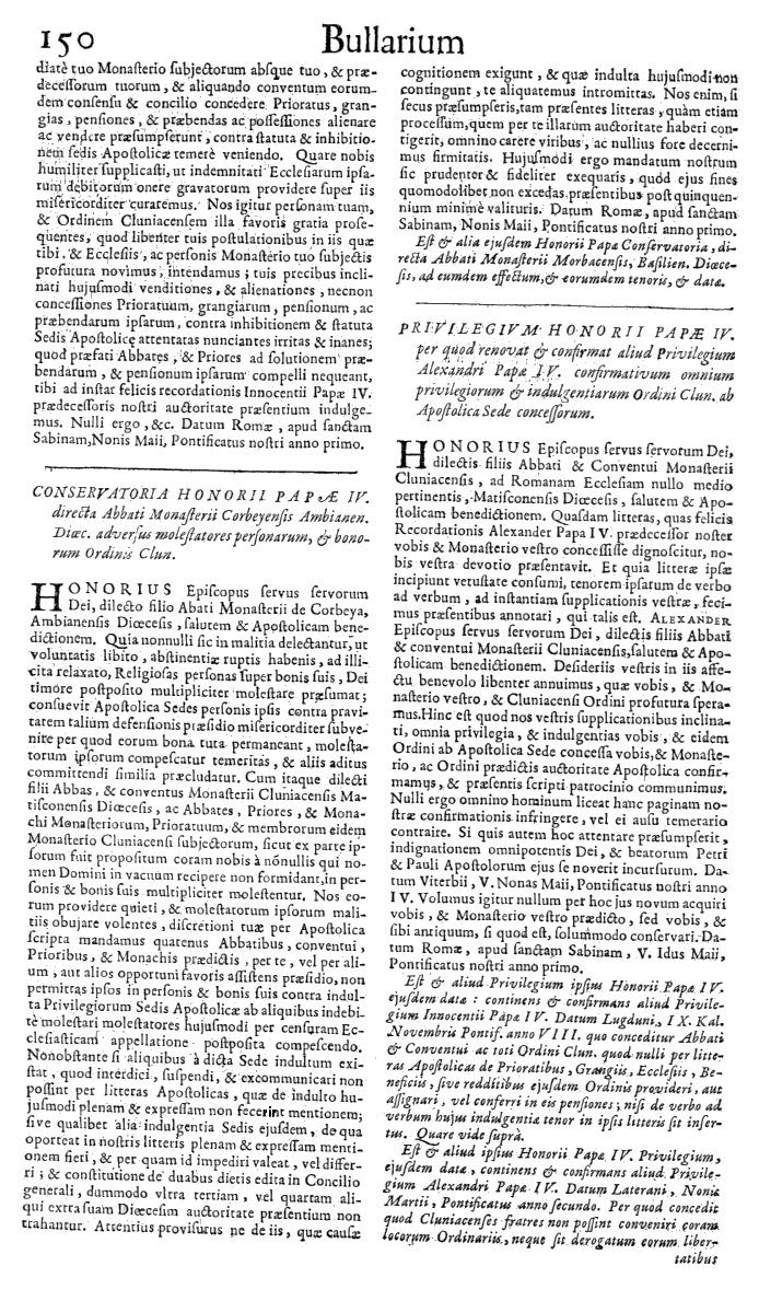 Bullarium Cluniacense p. 150   ⇒ Index privilegiorum