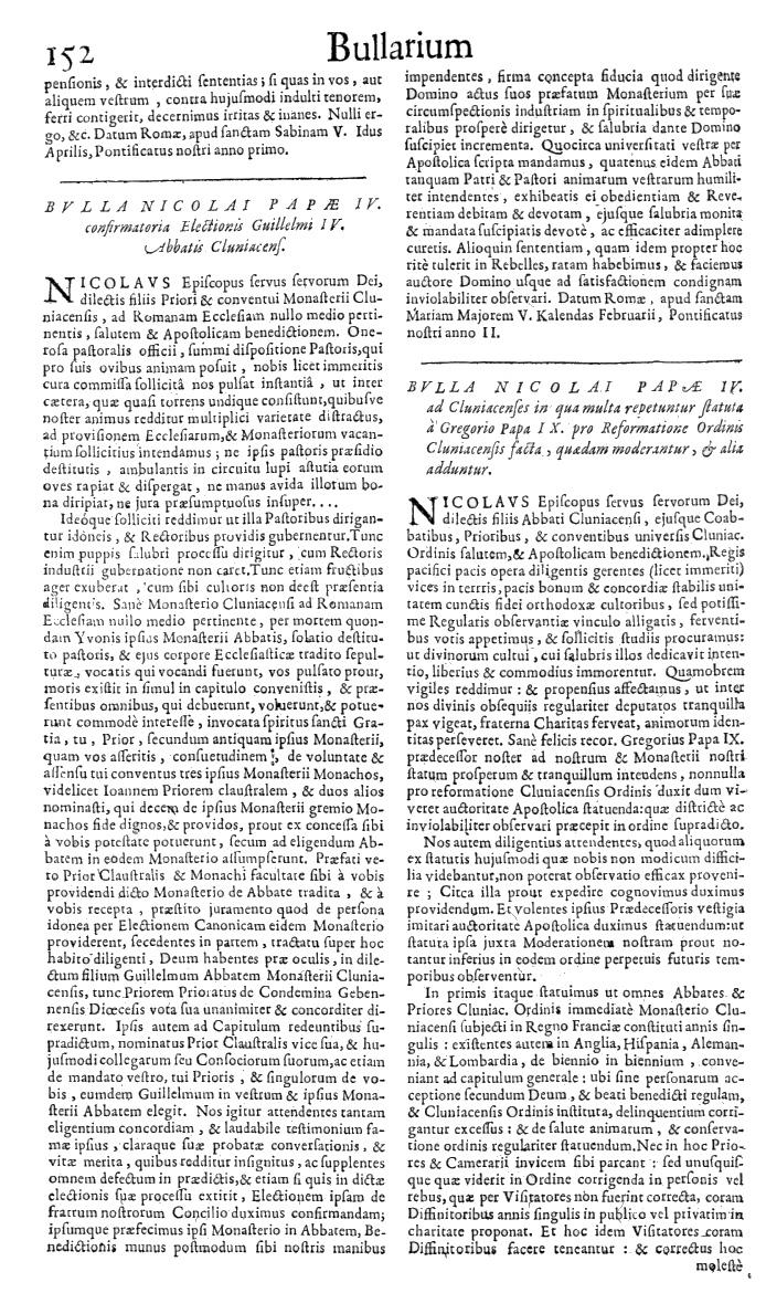 Bullarium Cluniacense p. 152   ⇒ Index privilegiorum