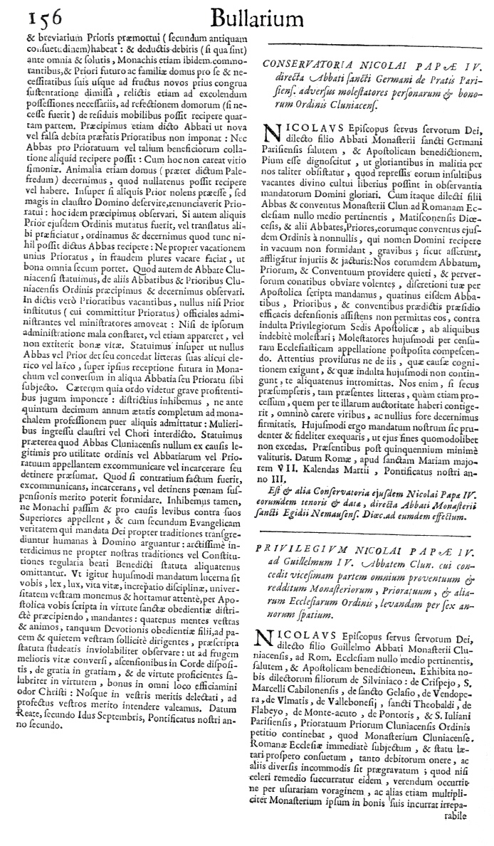 Bullarium Cluniacense p. 156     ⇒ Index privilegiorum