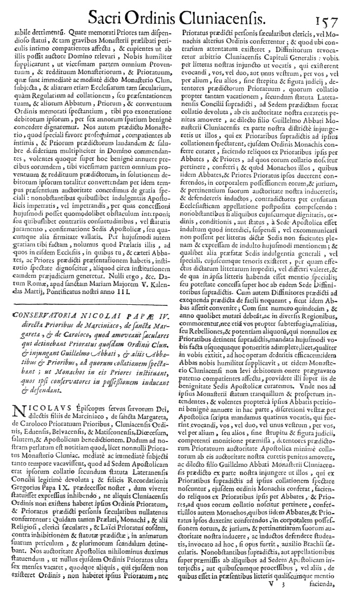 Bullarium Cluniacense p. 157     ⇒ Index privilegiorum