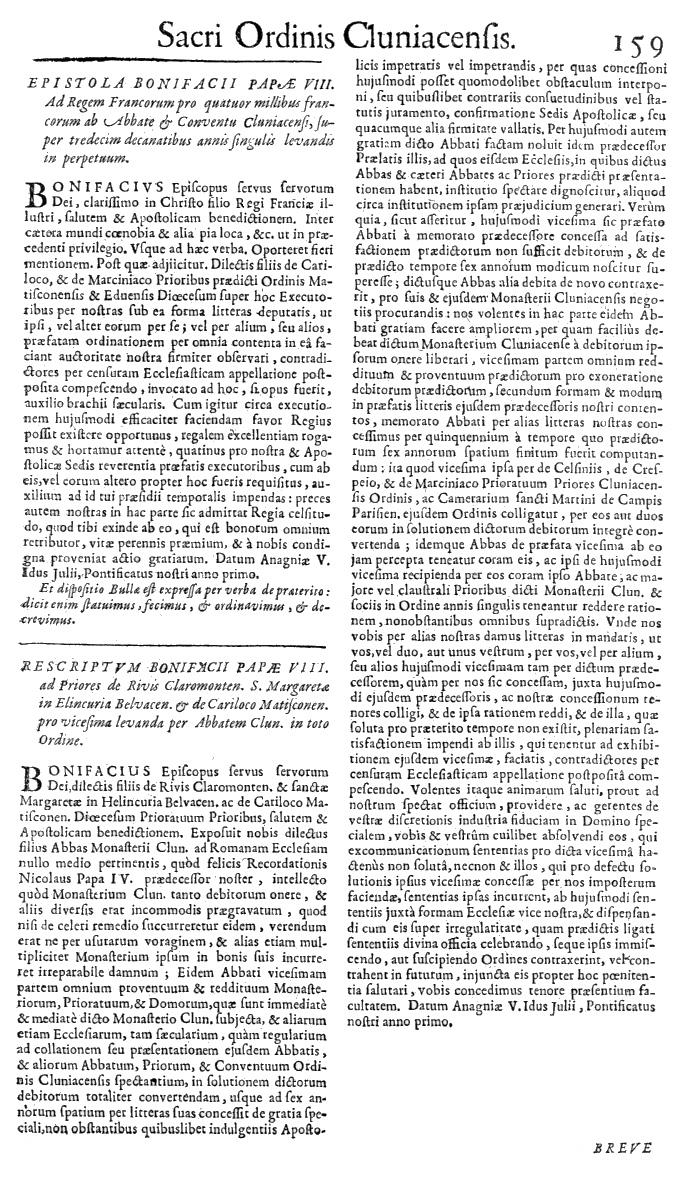 Bullarium Cluniacense p. 159   ⇒ Index privilegiorum