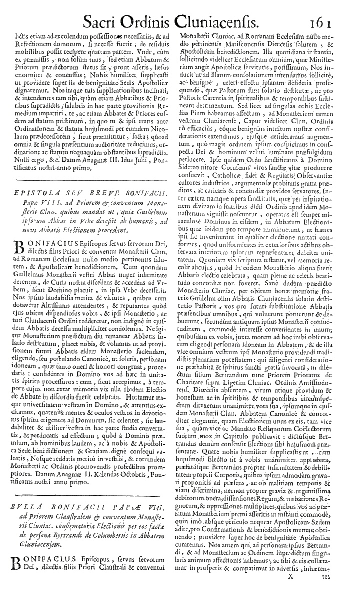 Bullarium Cluniacense p. 161     ⇒ Index privilegiorum