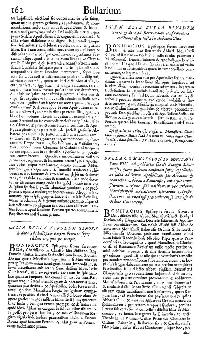 Bullarium Cluniacense p. 162   ⇒ Index privilegiorum