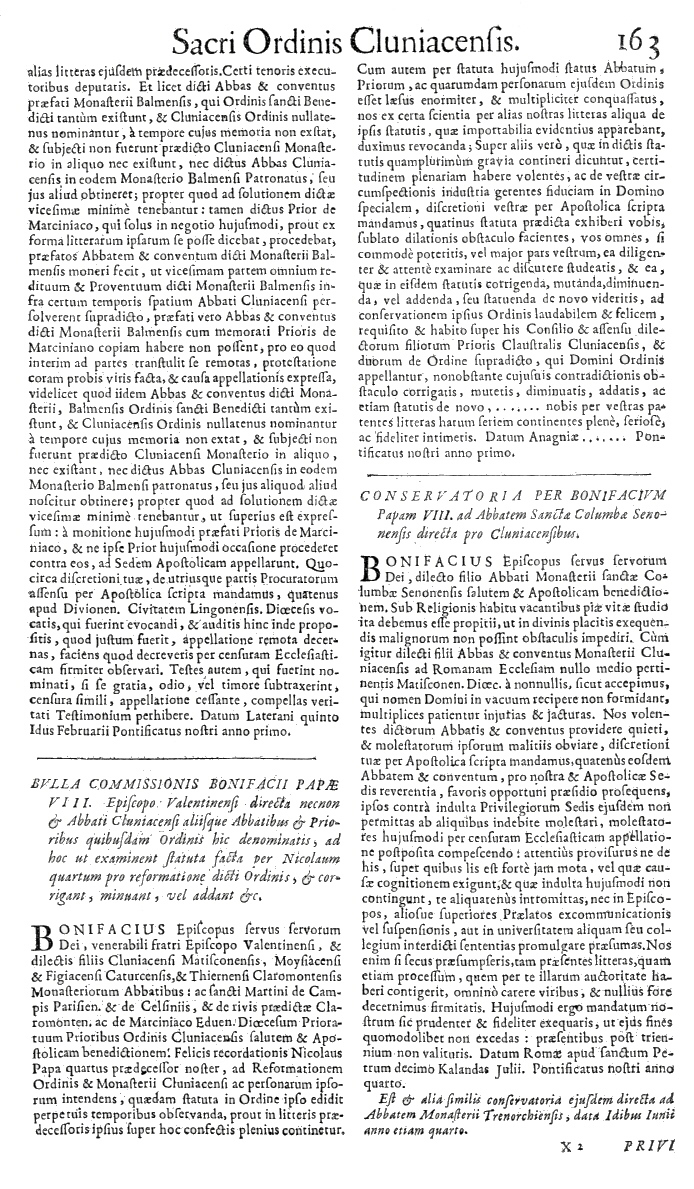 Bullarium Cluniacense p. 163     ⇒ Index privilegiorum