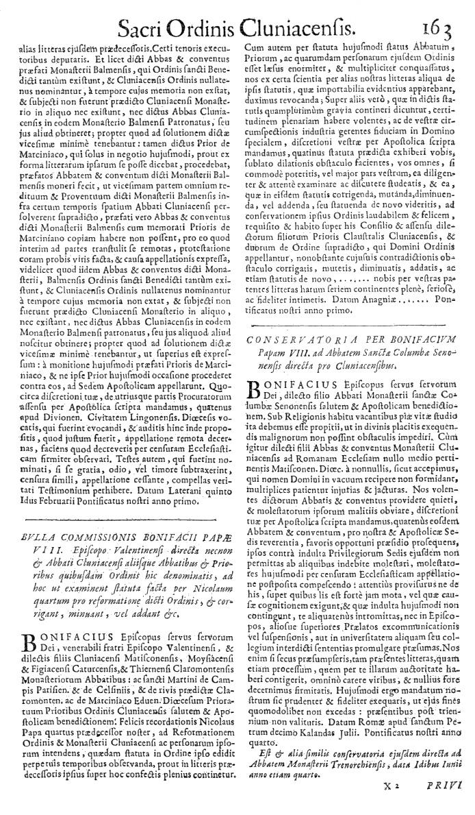 Bullarium Cluniacense p. 163   ⇒ Index privilegiorum