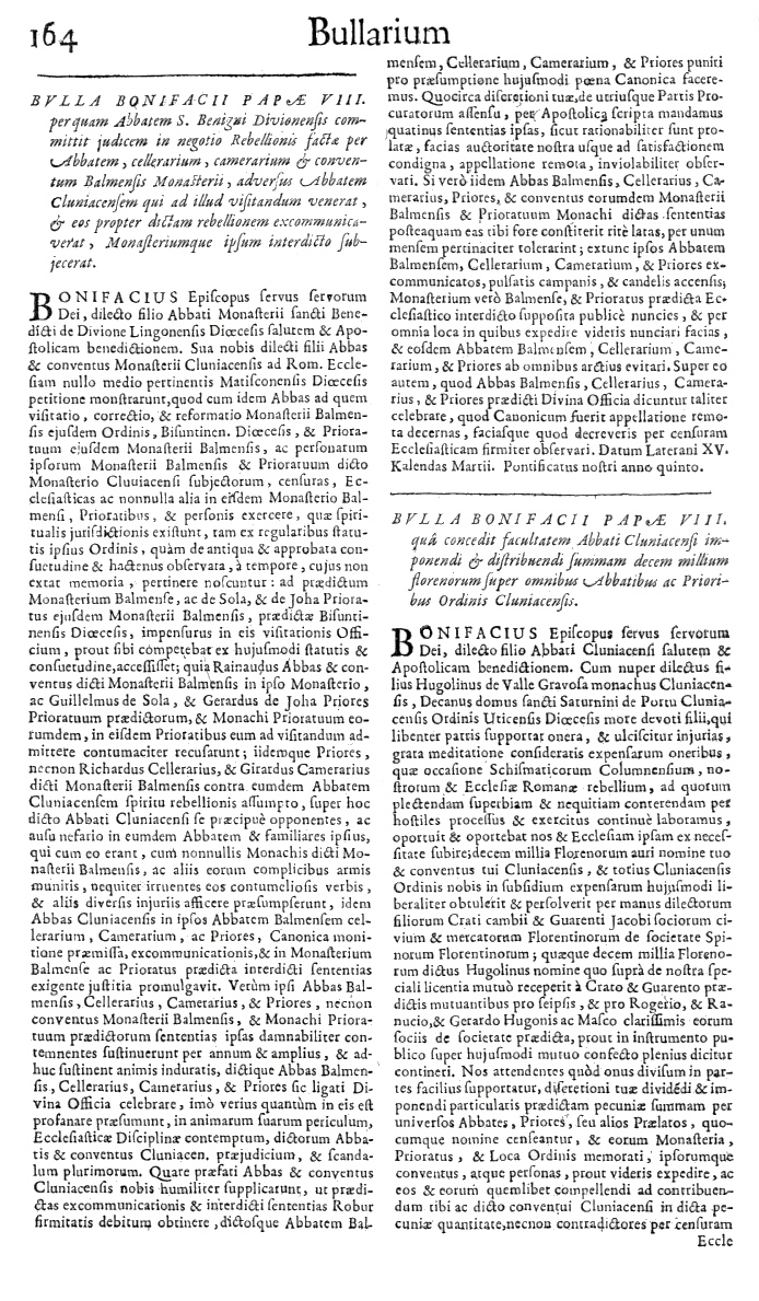 Bullarium Cluniacense p. 164     ⇒ Index privilegiorum