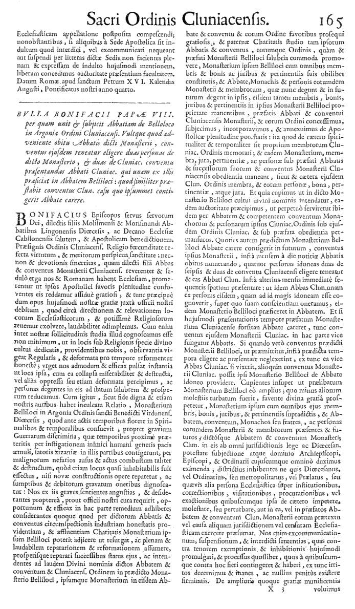 Bullarium Cluniacense p. 165   ⇒ Index privilegiorum