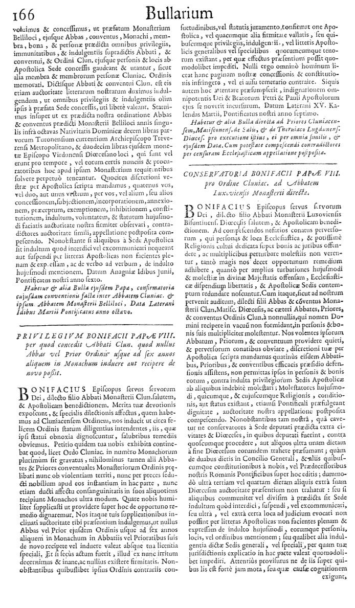 Bullarium Cluniacense p. 166   ⇒ Index privilegiorum