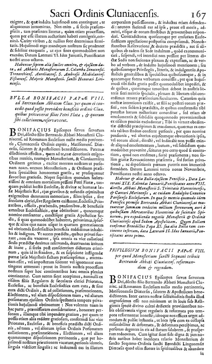 Bullarium Cluniacense p. 167   ⇒ Index privilegiorum