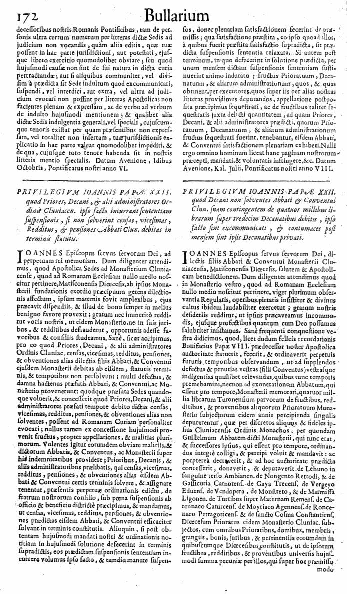 Bullarium Cluniacense p. 172   ⇒ Index privilegiorum