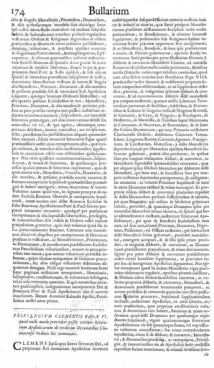 Bullarium Cluniacense p. 174   ⇒ Index privilegiorum