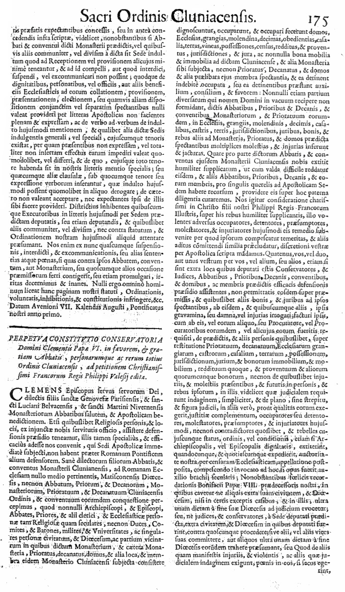 Bullarium Cluniacense p. 175     ⇒ Index privilegiorum