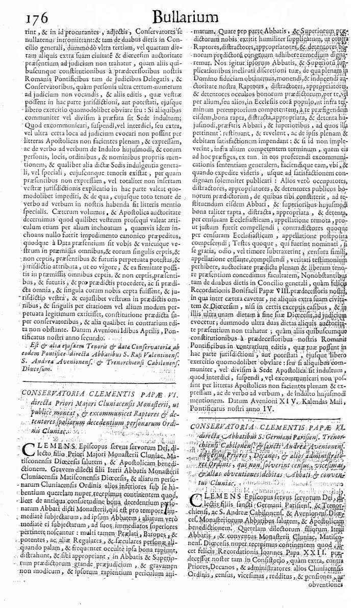 Bullarium Cluniacense p. 176   ⇒ Index privilegiorum
