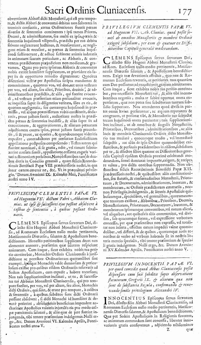 Bullarium Cluniacense p. 177   ⇒ Index privilegiorum