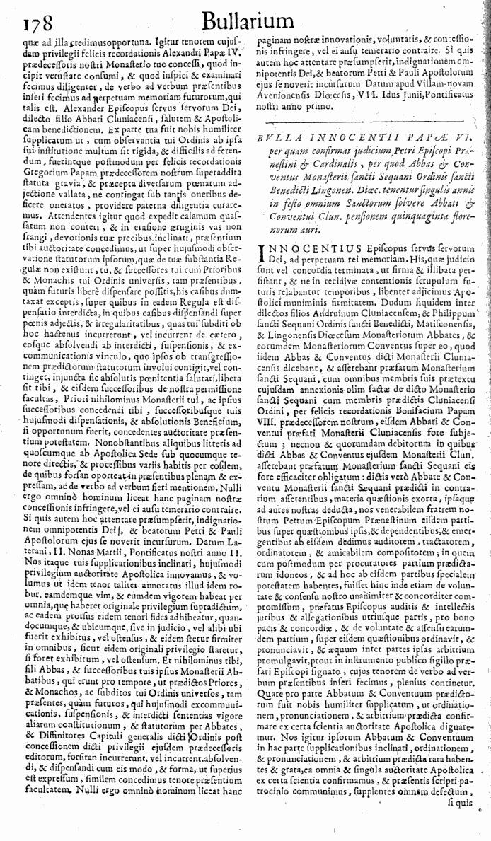 Bullarium Cluniacense p. 178   ⇒ Index privilegiorum