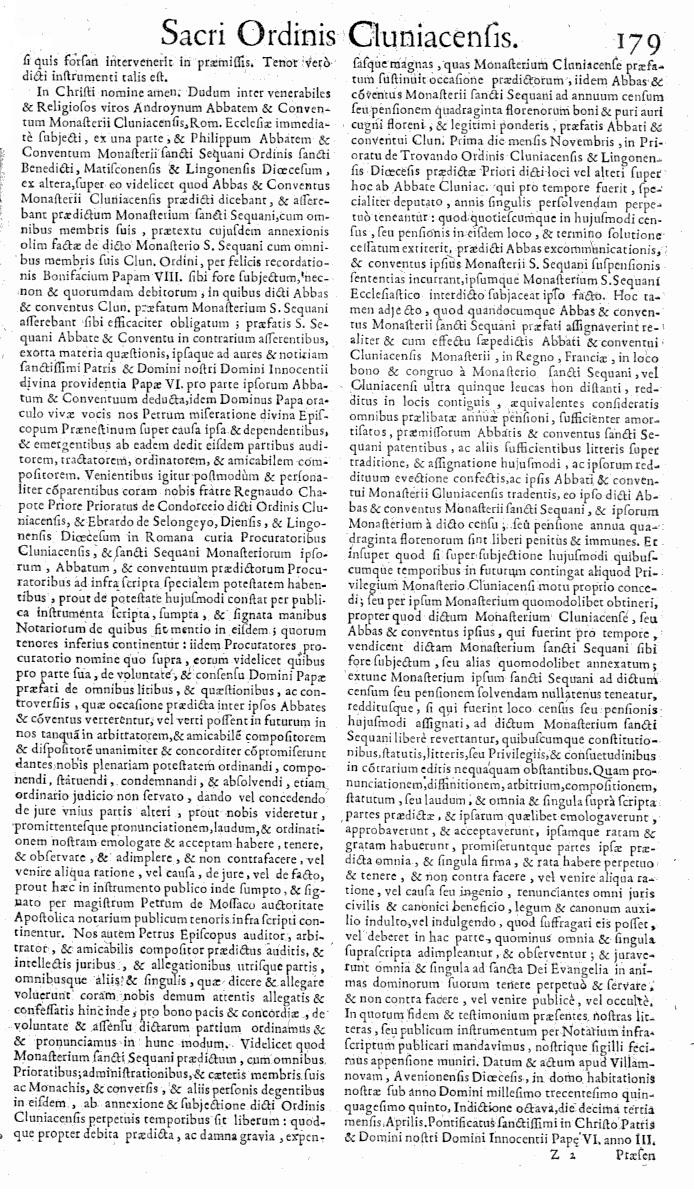 Bullarium Cluniacense p. 179   ⇒ Index privilegiorum