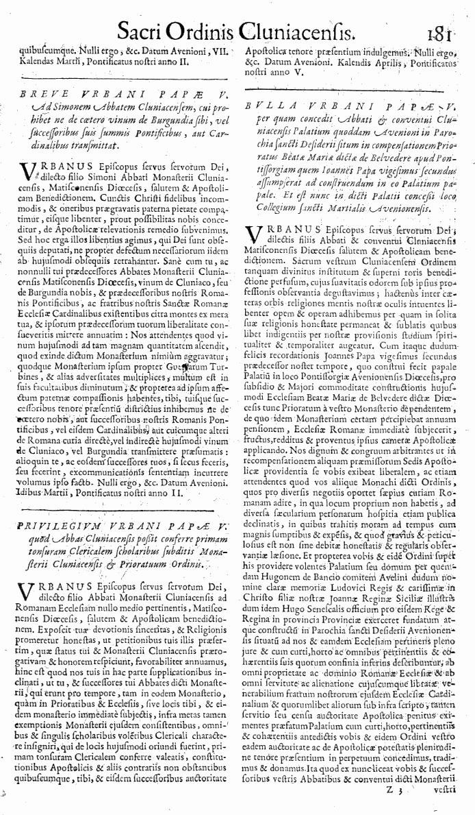 Bullarium Cluniacense p. 181   ⇒ Index privilegiorum