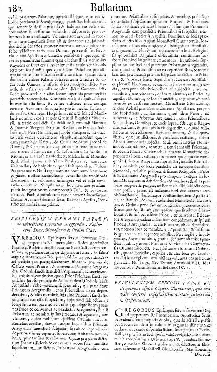 Bullarium Cluniacense p. 182     ⇒ Index privilegiorum