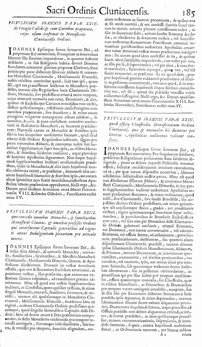 Bullarium Cluniacense p. 185     ⇒ Index privilegiorum
