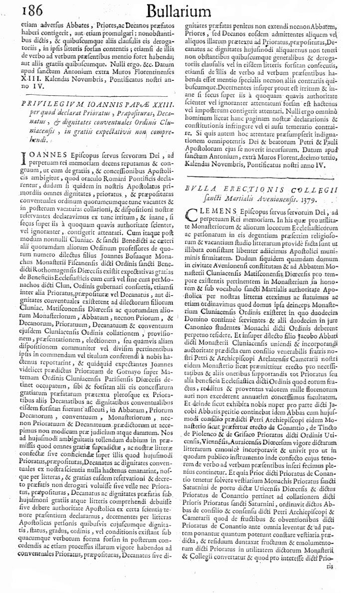 Bullarium Cluniacense p. 186   ⇒ Index privilegiorum