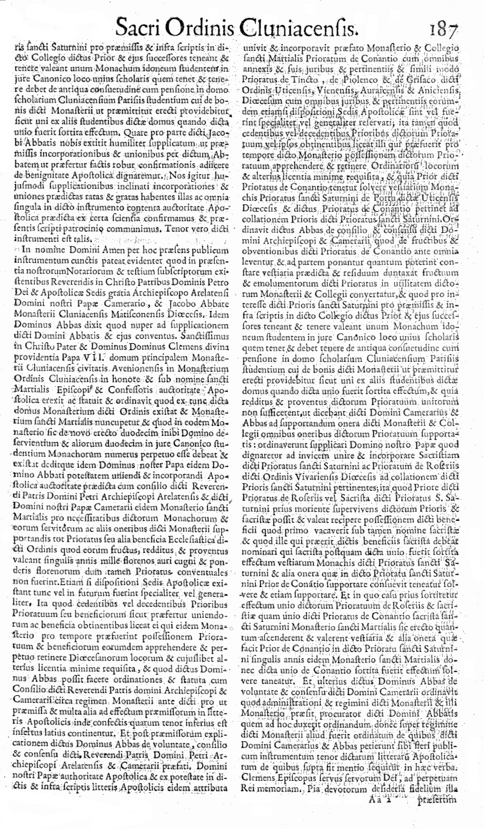 Bullarium Cluniacense p. 187     ⇒ Index privilegiorum