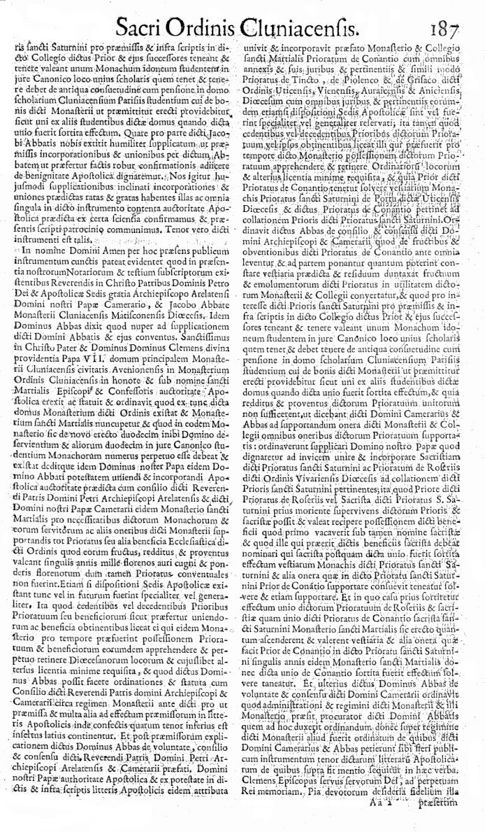 Bullarium Cluniacense p. 187   ⇒ Index privilegiorum