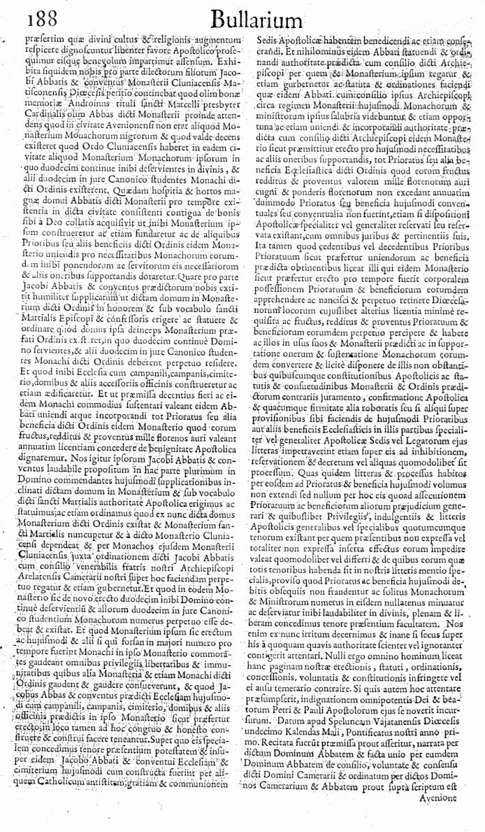 Bullarium Cluniacense p. 188   ⇒ Index privilegiorum