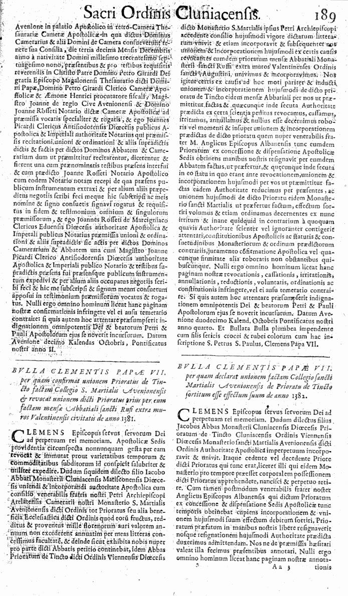 Bullarium Cluniacense p. 189   ⇒ Index privilegiorum