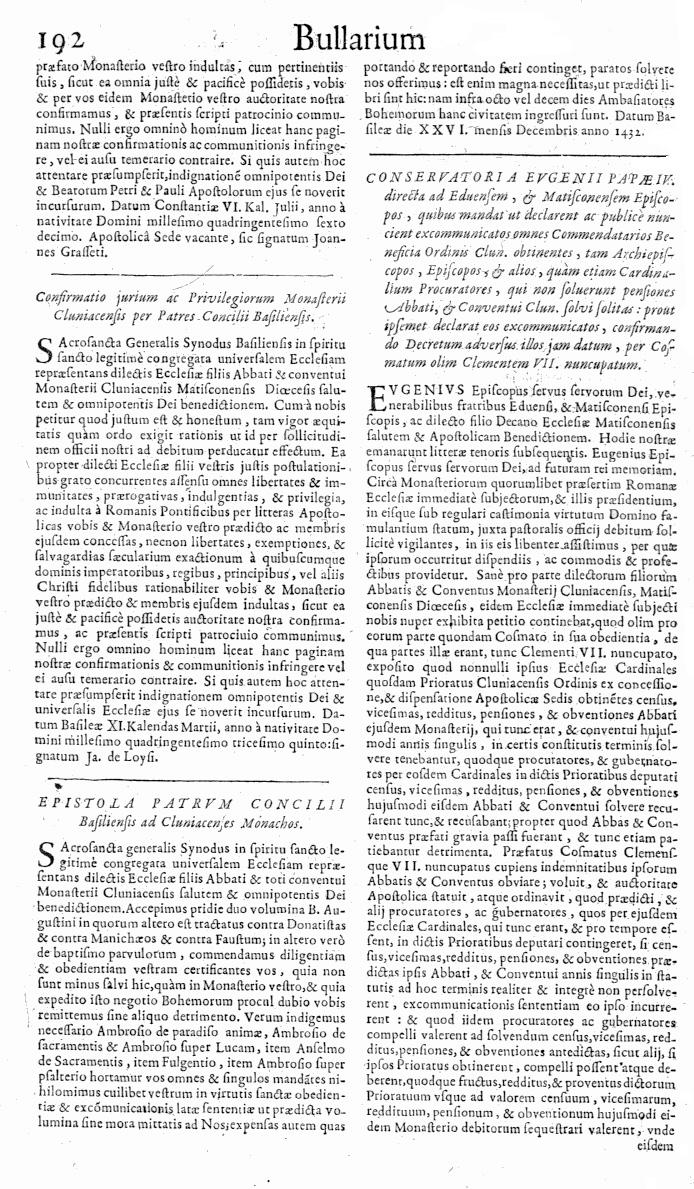 Bullarium Cluniacense p. 192   ⇒ Index privilegiorum