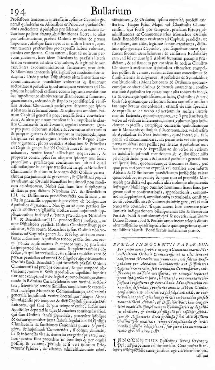 Bullarium Cluniacense p. 194   ⇒ Index privilegiorum