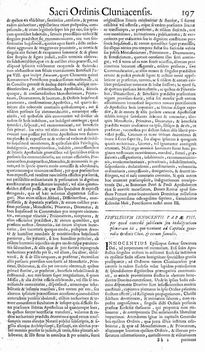 Bullarium Cluniacense p. 197   ⇒ Index privilegiorum