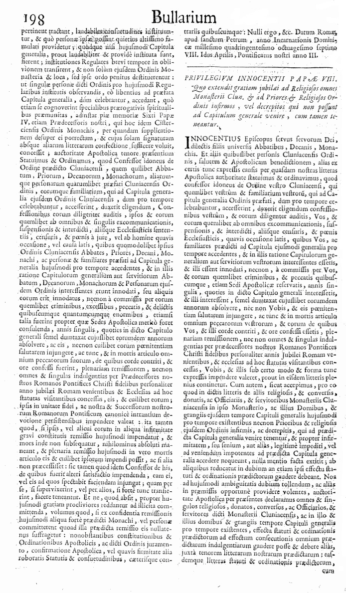 Bullarium Cluniacense p. 198   ⇒ Index privilegiorum