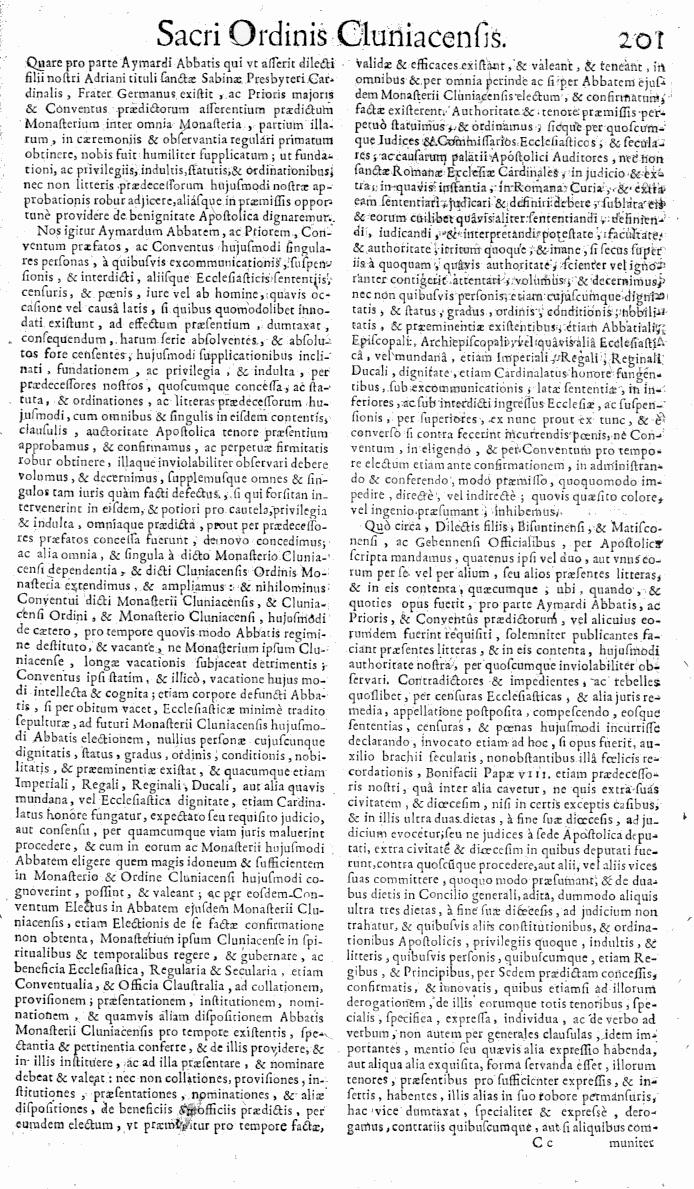 Bullarium Cluniacense p. 201   ⇒ Index privilegiorum