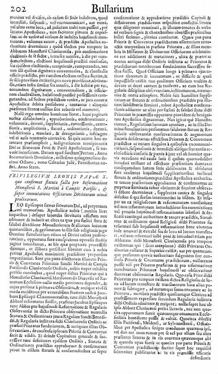 Bullarium Cluniacense p. 202   ⇒ Index privilegiorum