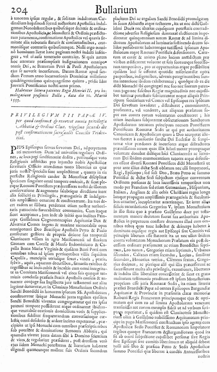 Bullarium Cluniacense p. 204   ⇒ Index privilegiorum