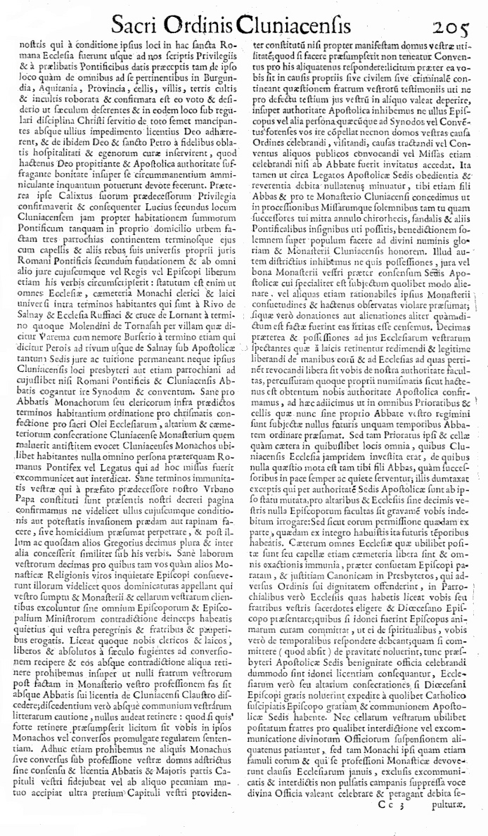 Bullarium Cluniacense p. 205     ⇒ Index privilegiorum
