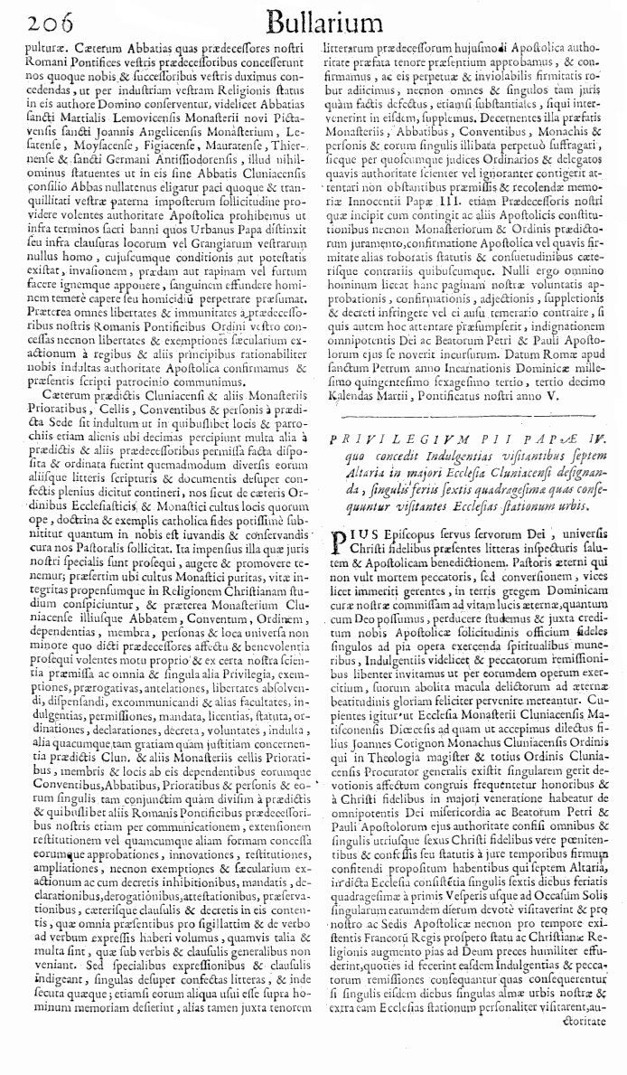 Bullarium Cluniacense p. 206     ⇒ Index privilegiorum