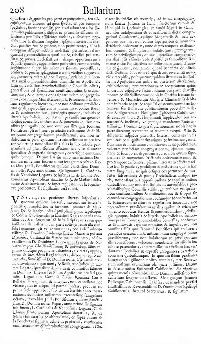 Bullarium Cluniacense p. 208   ⇒ Index privilegiorum