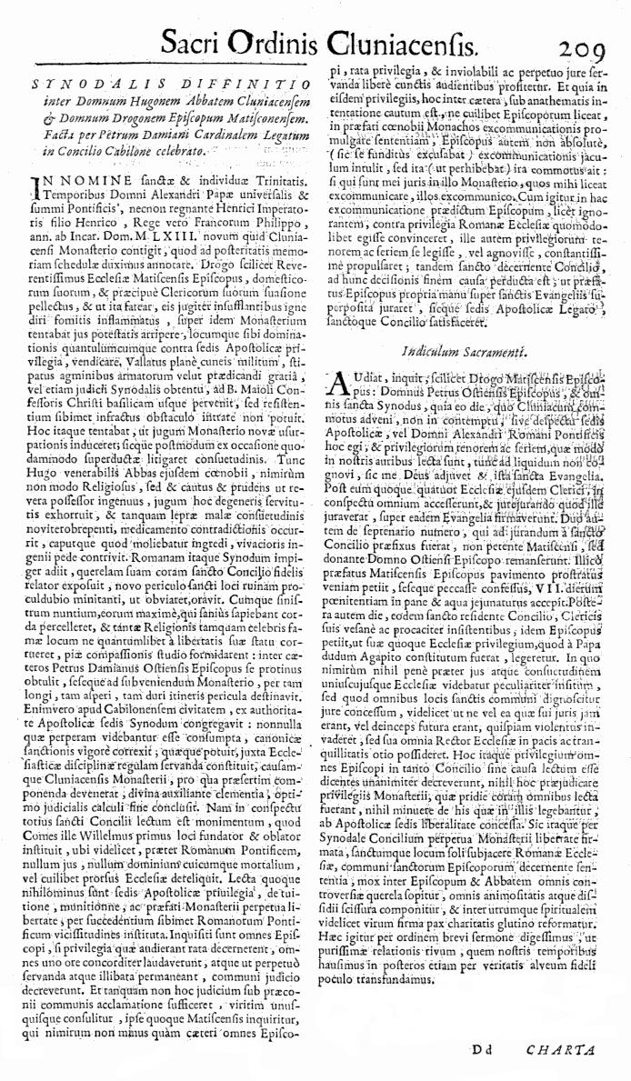 Bullarium Cluniacense p. 209   ⇒ Index privilegiorum