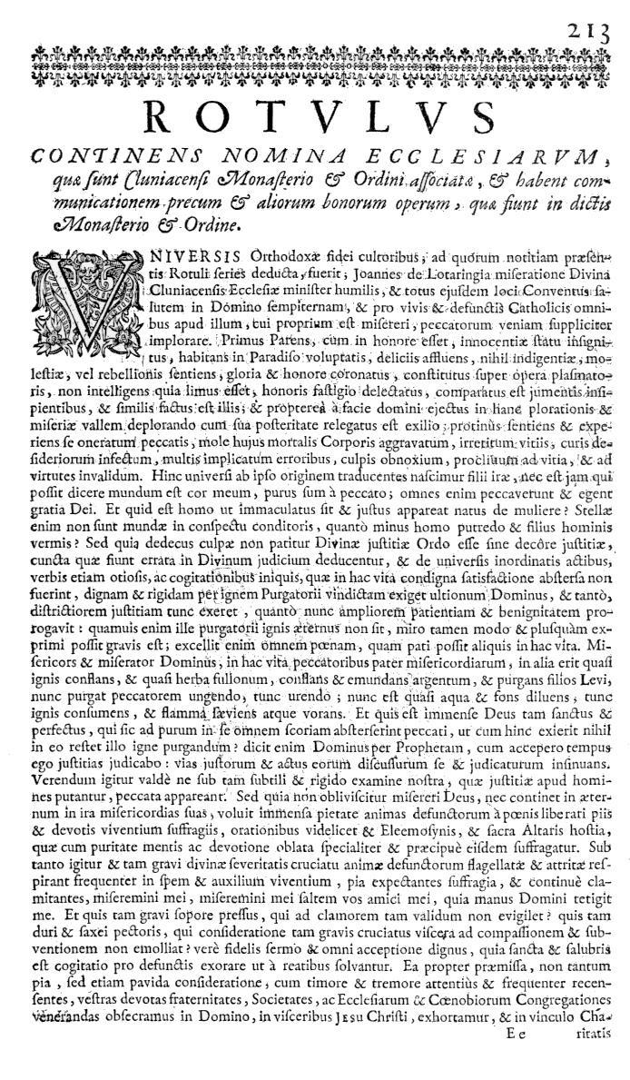 Bullarium Cluniacense p. 213b   ⇒ Index privilegiorum